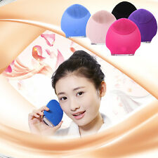 Face Skin Cleaner Scrubber Sonic Facial Cleaning Brush Silicon Vibrat Massager