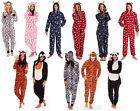 Animal Estampado Novedad Disfraz Onezee Mono Todo En Uno Pijama Hombre Mujer