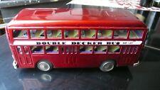 Blechspielzeug,Double Decker Bus MF185,weinrot, mit Fiktionsantrieb,Top Zustand