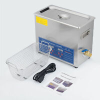 Brand New 6L Ultrasonic Cleaner Stainless Steel Industry Heated Heater w/Timer
