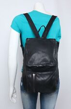 DKNY Medium Black Leather Shoulder Hobo Tote Back Pack Satchel Purse Bag