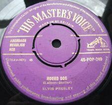 "Elvis Presley Hound Dog (HMV GOLD TOP EXAMPLE) 7"""
