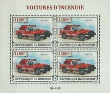 FORD F-350 Fire & Rescue Truck Vehicle / Car Stamp Sheet (2013 Burundi)