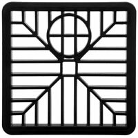 "Drain Cover 6"" SQUARE 150mm Black Plastic Grate Gulley Grid Leaf Guard Gutter"
