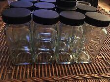 Lot Of 12 Glass Spice Jars 4 Oz Bottles