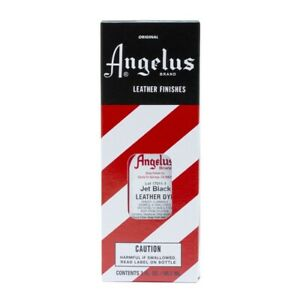 Angelus Brand Leather Dye for Shoes, Sneakers, Bags - JET BLACK