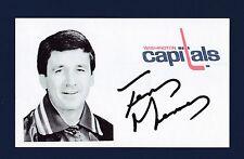 Terry Murray signed Washington Capitals hockey index card