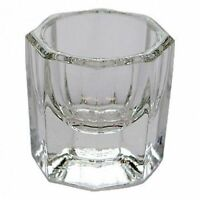 2 Piezas Transparente Manicura Acrílico Cristal Recipiente de Vidrio Líquido