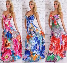 Bodenlange Damenkleider mit Trägern aus Polyester