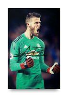 David De Gea Hand Signed 6x4 Photo Manchester United Goalkeeper Autograph + COA