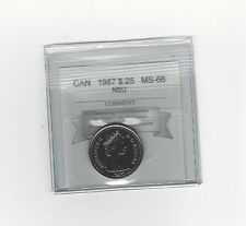 **1987** Coin Mart Graded Canadian, 25 Cent, **MS-66 NBU**