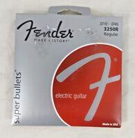Fender E-Gitarren Saiten Super 250R 10-46 3-Pack Nickel Plated Steel
