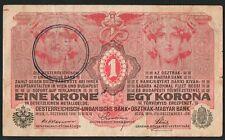 1 UNA  KRONEN  KORONA FIUME OCCUPAZIONE DANNUNZIANA II° TIPO DECR 01-12-1916  R2