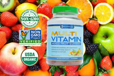FDA Fresh Multi-Vitamin Gummies NON-GMO USDA ORGANIC Advance Formula Biotin Zinc