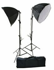 "2 x 24"" Octagon Daylight Photographic Studio Constant Light Softbox Lighting Kit"