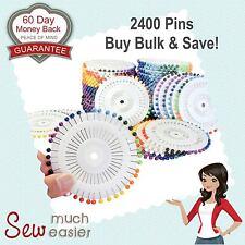 Dressmaking Sewing Pins Bulk x 2400 Patchwork Straight Dressmaker Pin Blocking