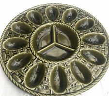 More details for vintage devilled egg ceramic plate