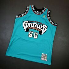 100% Authentic Bryant Reeves Mitchell Ness 96 97 Grizzlies Jersey Size 48 XL Men