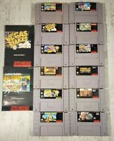 Super nintendo snes games lot of 12 - Super Mario, Wario Woods, Dr. Mario