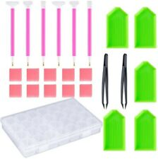 24 Pieces Diamond Painting Tools 5D DIY Accessories with 28 Slots Embroidery box