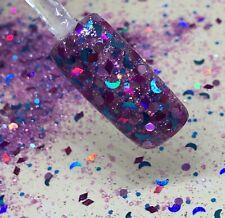 glitter mix acrylic gel nail Art  MOON GRAPES