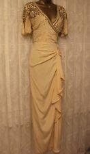 Virgos Lounge Grace Embellished Wrap V Back Frill Skirt Party Maxi Dress  8 - 16