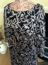 Monsoon Larina size 14 Navy/pink Lace Dress Posting Daily Holiday 9/5