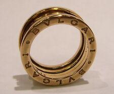 AUTHENTIC BULGARI BVLGARI B.ZERO1 PINK GOLD RING 18K ITALY SIZE 52