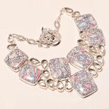 "Multi Turquoise White Topaz Handmade Gemstone Jewelry Necklace 17-18"" BN-436"