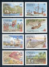 DOMINICA *1987 * compl.set 8 stamps * MNH** Discovery of America - Mi.No 1041-48