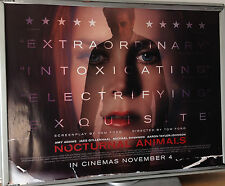 Cinema Poster: NOCTURNAL ANIMALS 2016 (Main Quad) Jake Gyllenhaal Amy Adams