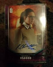2018 Topps signature Doctor Who Auto Autograph Ingrid Oliver Osgood zygon unit