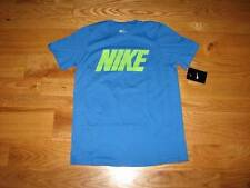 NEW Classic Boys NIKE Youth S/S T-Shirt Size M 10-12 Medium MD Shirt Blue Yellow
