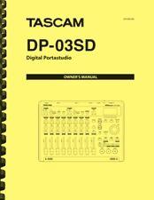 Tascam DP-03SD Digital Portastudio OWNER'S MANUAL