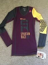 Reebok Womens Spartan Race Running Compression Workout Long Sleeve Top S 8 10