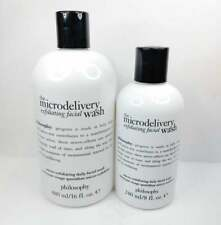 New listing Philosophy The Microdelivery Exfloliating Facial Wash 16fl & 8fl oz Lot of 2