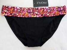Profile Size 6 Multi Color Pink Banded New Womens Bikini Bottoms Swimwear