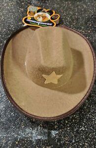 Dog Cowboy Hat Pet Brown M/L Unisex
