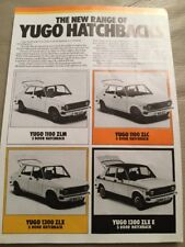 Yugo Cars Brochure - c1982
