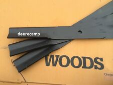 """Set of 3 mower blades for Woods RM372 & RM660 72"""" grooming mower part #15127KT"""