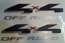 4x4 off road decal sticker fiber carbon silverado truck chevrolet  (SET)