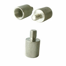 """Microphone/Mic Clip Stand Thread Adapter-3/8"""" Outer Plug to 5/8"""" Inner Converter"""