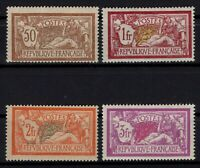 P131848/ FRANCE STAMPS / MERSON TYPE / Y&T # 120 – 121 – 145 - 240 MH - CV 316 $