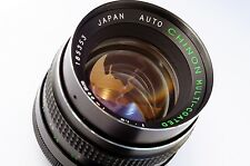 M42 CHINON 1.4/55mm 100% flat rear Tomioka portrait Serviced A7 Tested Remarks