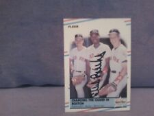 1988 FLEER CHANGING THE GUARD IN BOSTON ELLIS BUR AUTOGRAPHED #630 Baseball Card