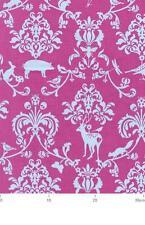 Echino Damask Classic Animals Pink Japanese OOP Fabric HALF YARD