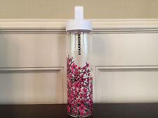 2017 Starbucks Sakura Cherry Blossom Glass Water Bottle BNIB