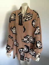 Career Animal Print Button Down Shirt Hand-wash Only Tops & Blouses for Women