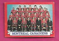 1973-74 OPC # 100 MONTREAL CANADIENS TEAM PHOTO EX CARD (INV# D5519)