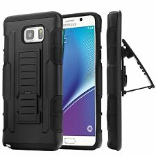 Samsung Galaxy Note 5 iRob Hybrid Rugged Holster Case Cover Stand Clip